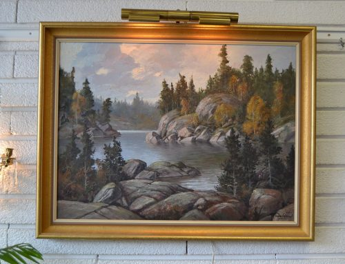 Oljemålning av Harry Waldow