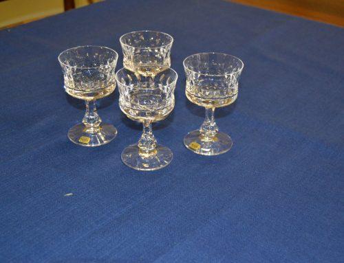4 st likör/sherryglas Prince Kosta  Design Göran Wärff