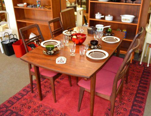 Teakmatbord & 4 stolar design Svante Skogh