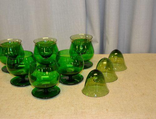 Räkcocktail-glas gröna