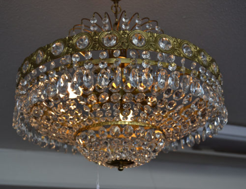 Kristallplafond med korgbotten