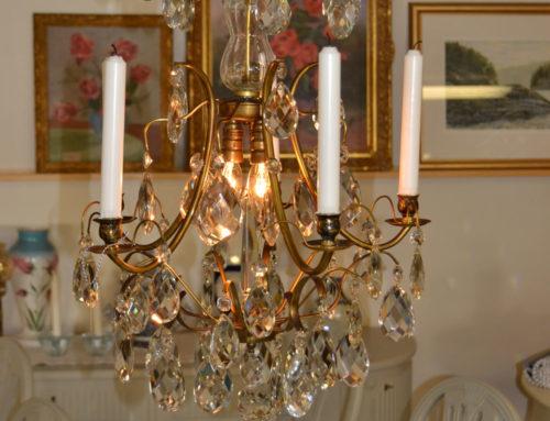 Ljuskrona barock renoverad samt ny el
