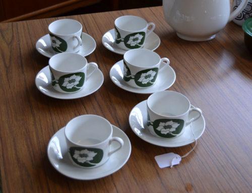 6 kaffekoppar Fleur Gustavsberg