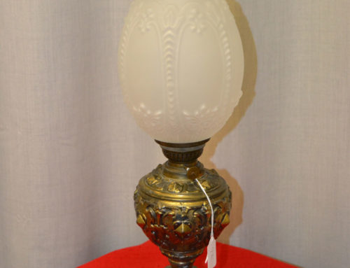 Fotogenlampa metallfot