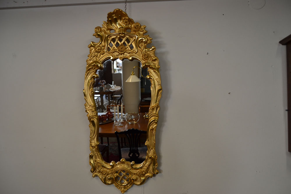 Spegel rokokostil förgylld