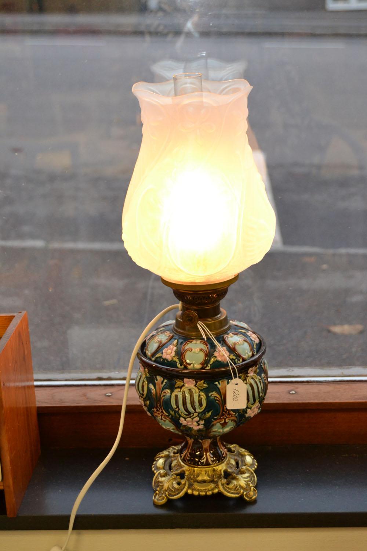 Fotogenlampa Majolika