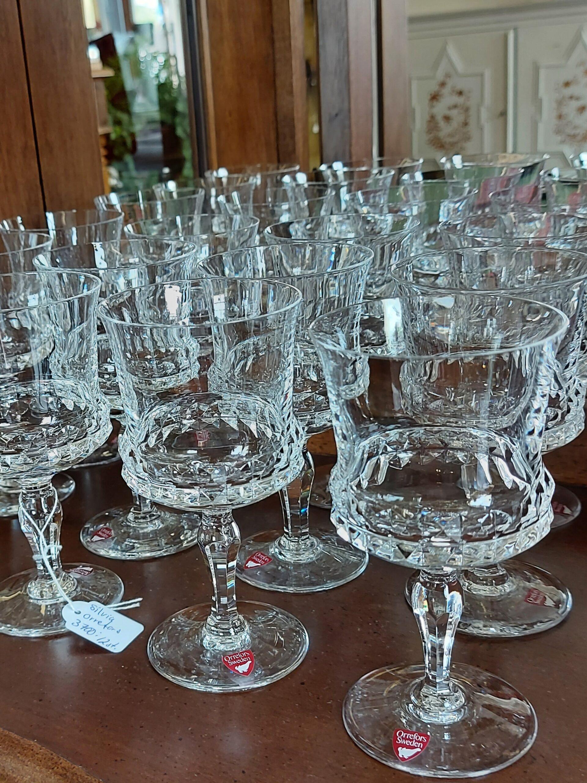 Rödvinsglas Silvia Orrefors kristall